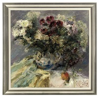 summer bouquet with an apple by nikolai kononenko