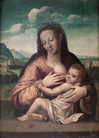 virgen de la leche by flemish school 16