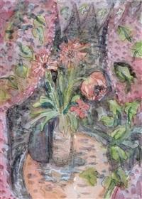 kleines stilleben mit blumenvase by elisabeth ahnert