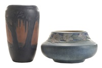 vases (2 works) by newcomb college pottery