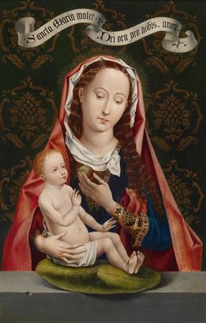 die madonna mit dem apfel by hans memling