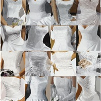 white on white (sixteen wedding dresses) iii by julia jacquette