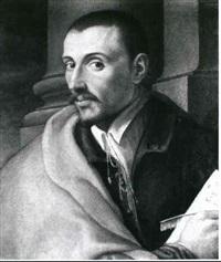 bildnis eines jungen mannes mit papier und feder by girolamo macchietti