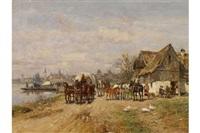 rasthaus am flussufer by wilhelm velten