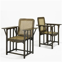 armchairs (2 works) by david wilcott kendall