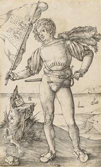 der fahnenschwinger by albrecht dürer