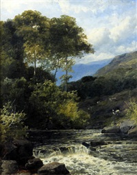 on the dee - north wales by john brandon smith