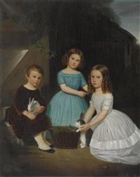 drei kinder mit häschen by ulrich steffen