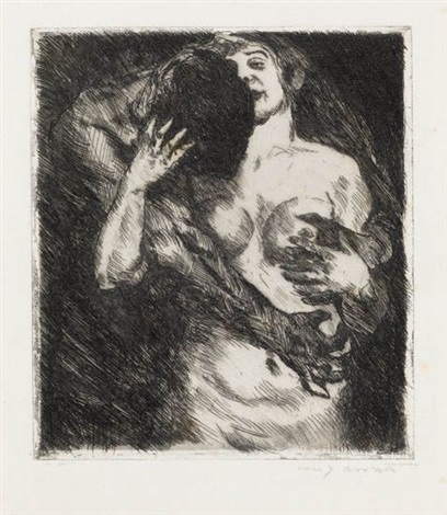 umarmung by lovis corinth