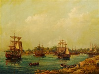 the first fleet in sydney cove jan. 27th 1788 by john allcott
