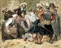 scène de mousquetaires by george appert