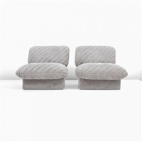 lounge chairs (pair) by harvey probber
