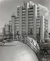 humble oil refinery, baytown, texas by harold corsini