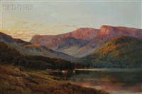 evening, cader idris, n. wales by alfred de breanski sr