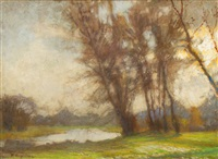 herbststimmung an der wümme by hermann angermeyer