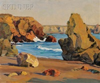 rocky coast (california?) by helen newton