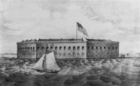 Fort Sumter, Charleston Harbor, S C  by Currier & Ives