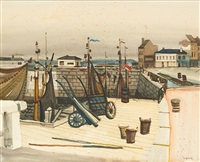 vue de port by gustave camus