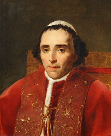 portrait du pape pius vii by jacques louis david