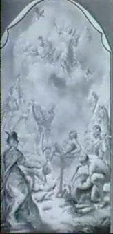 die marter des hl. laurentius by caspar franz sambach