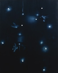 galaxy with birds by ross bleckner