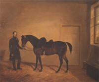 a gentleman and his horse by edward walter webb