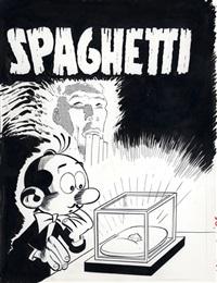 """spaghetti, couverture de l'album """" spaghetti et l'émeraude rouge """" by dino attanasio"""