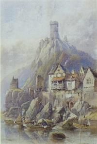 udsigt mod slottet cochem ved mosel by edwin earp
