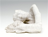 girl resting by george segal