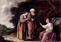 ängeln som talar till manoa och hans hustru by pieter lastman