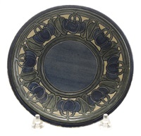 plate by newcomb college pottery