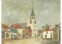 rue de l'eglise, bucquoy (pas-de-calais) by maurice utrillo