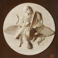 mark the evangelist (trompe l'oeil after bertel thorvaldsen) by danish school (19)