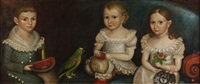 portrait of the dana children with parrot by thomas ware
