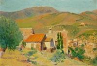 village en provence by hippolyte petitjean