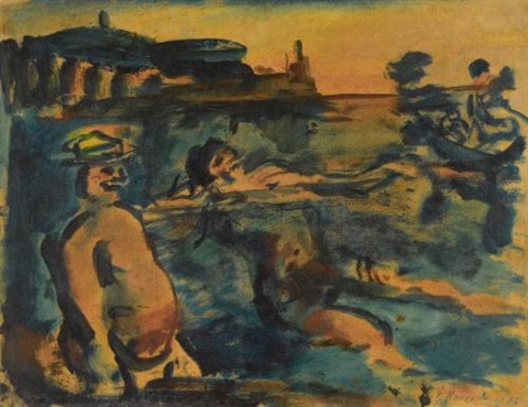 baigneurs by georges rouault