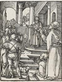 nürnberg <>christus vor pilatus. 1511 by albrecht dürer