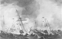 the storm during queen charlo-ttes voyage to england by thomas allen