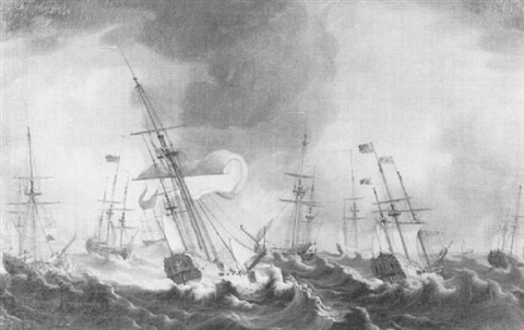 the storm during queen charlo ttes voyage to england by thomas allen