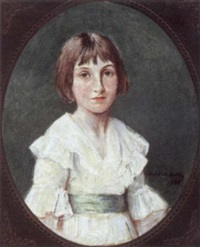 girl in a white dress by harry clifford pilsbury