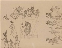 ohne titel (figure studies for alles theater) by fritz hermanovsky-orlando