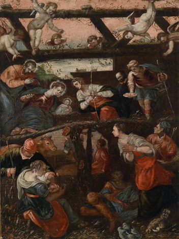 die geburt christi by jacopo robusti tintoretto