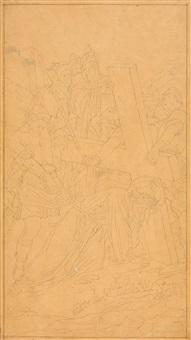 entwürfe zu einer kreuztragung christi (3 works) by edward jakob von steinle