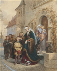 luther singing at eisenbach by charles robert leslie