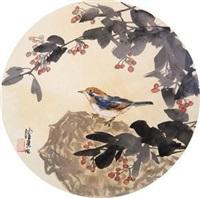花鸟团扇 by chen peiqiu