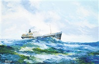 untitled - on the sea by duncan mackinnon crockford