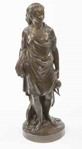 figure of a peasant woman holding a wheat sheaf by jean-antoine houdon