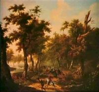 chasse au cerf by louis françois lejeune