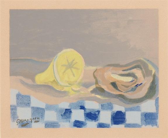 huître et citron by georges braque