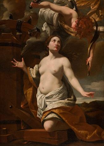 el martirio de santa catalina by simon vouet